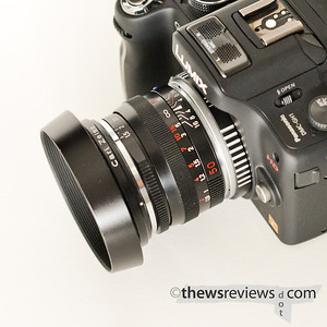 Carl Zeiss M-mount lens on a Panasonic camera