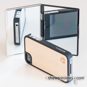 Tribeca Wood iPhone Case with a mirror to show top and front
